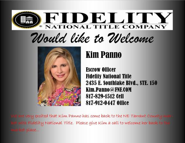 Kim Panno Has Joined Fidelity National Title in Southlake, TX